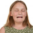 Young girl crying and unhappy — Stock Photo