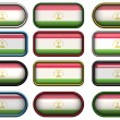 Twelve buttons of Flag of Tajikistan — Stock Photo #2037741