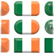 Buttons of the Flag of Ireland — Stock Photo