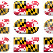 Buttons of the Flag of Maryland — ストック写真
