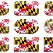 Buttons of the Flag of Maryland - Stock Photo