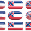 Buttons of Flag of Mississippi — Stock Photo #2038070