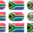 Buttons of the Flag of South Africa — Stock Photo