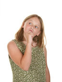 Young girl perplexed — Stock Photo