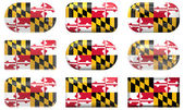 Buttons of the Flag of Maryland — Stock Photo