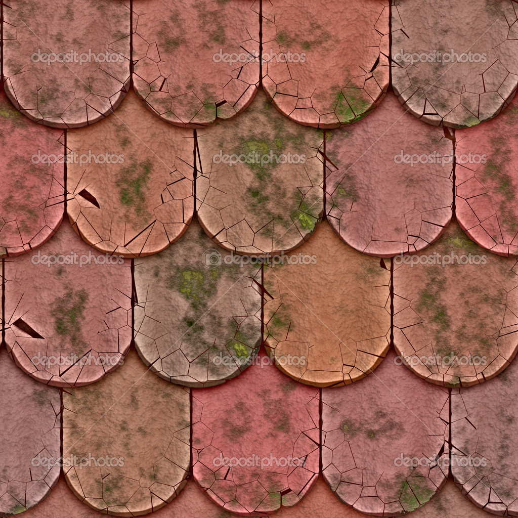 A large background of roof tiles in a row — Stock Photo #2038306