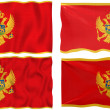 Flag of Montenegro - Foto Stock