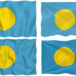 Flag of Palau - Foto Stock