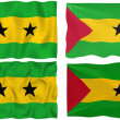 Stock Photo: Flag of Sao Tome and Principe