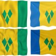 Royalty-Free Stock Photo: Flag of Saint Vincent and the Grenadines