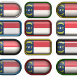 12 buttons of the Flag of North Carolina — Stock Photo #2063624