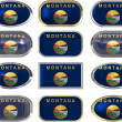 12 buttons of Flag of Montana — Foto de stock #2063627