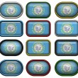 Stock Photo: 12 buttons of Flag of south Dakota