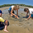 Digging at the beach — Stockfoto #2063646