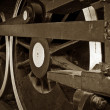 Steam train wheels — Stock Photo #2063662