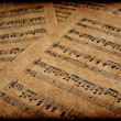 Musical notes on parchment — Stockfoto