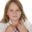 Young girl wants to be a doctor - Stockfoto