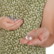 Handful of diamonds and one for you — Stock Photo