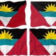 vlag van barbuda van antigua — Stockfoto
