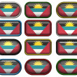 Bandeira de antigua barbuda — Foto Stock