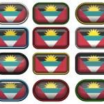 Флаг Антигуа Барбуда — Стоковое фото