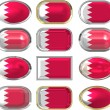 Twelve buttons of the Flag of Bahrain — Stock Photo