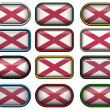 Stock Photo: Twelve buttons of Flag of alabama