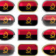 Twelve buttons of the Flag of angola — Stock Photo