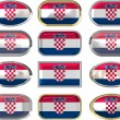 Twelve buttons of the Flag of Croatia — Stock Photo