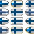 Twelve buttons of the Flag of Finland — Stock Photo