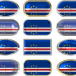 Twelve buttons of the Flag of Cape Verde — Stock Photo