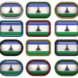 Twelve buttons of the Flag of Lesotho — Stock Photo