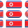 Buttons of the Flag of North Korea — Stock Photo