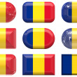 Buttons of the Flag of Romania — Stock Photo
