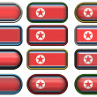 Buttons of the Flag of North Korea — Stock Photo #2063964