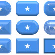 Glass buttons of the Flag of Somalia — Stock Photo