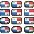 Stock Photo: Twelve buttons of Flag of Panama