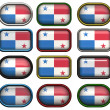 Twelve buttons of the Flag of Panama — Stock Photo
