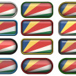 Buttons of the Flag of the Seychelles — Stock Photo