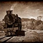 oude stoomtrein in grunge — Stockfoto #2064150
