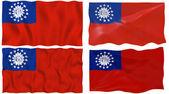 Flag of Myanmar — Stock Photo