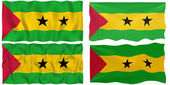 Flag of Sao Tome and Principe — Stock Photo