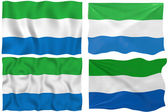 Flag of Sierra Leone — Stock Photo