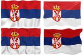 Bandiera della serbia — Foto Stock