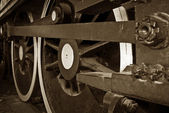 Steam train wheels — Stock Photo