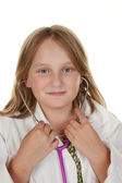Young girl wants to be a doctor — Stockfoto