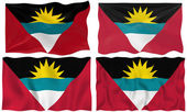 Flag of antigua barbuda — Stock Photo