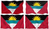 Flag of antigua barbuda — Stock Photo