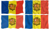 Flag of andorra — Stock Photo