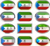 Flag of Equatorial Guinea — Stock Photo